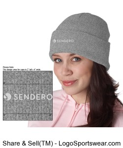 Gray Knit Cap Design Zoom